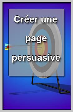 Créer une page persuasive