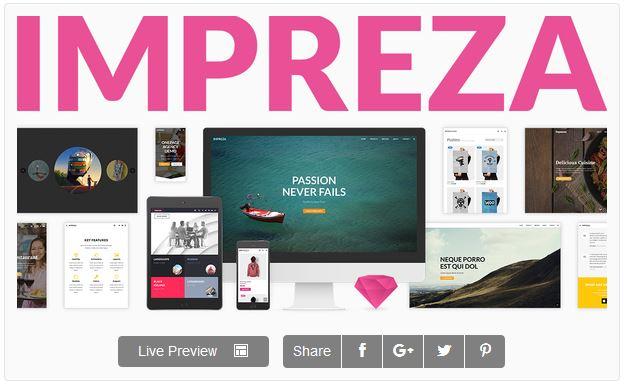 Impreza theme wordpress themeforest