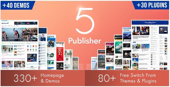 publisher 5 template wordpress themeforest