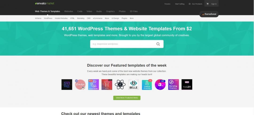 themeforest template Wordpress