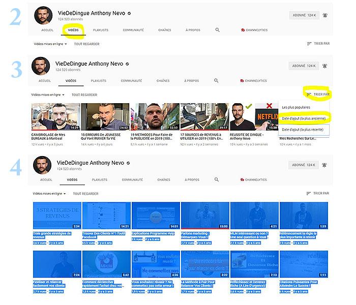 trouver une idée de vidéo Youtube