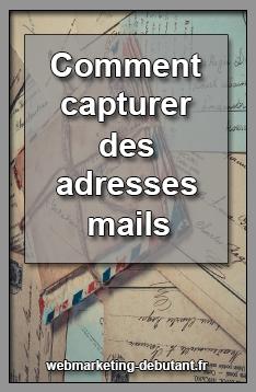récupérer une adresse mail