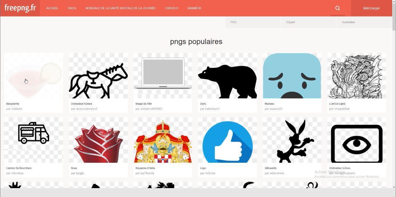 Free PNG est une banque d'images gratuites