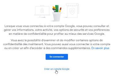 Créer un nouveau compte Google
