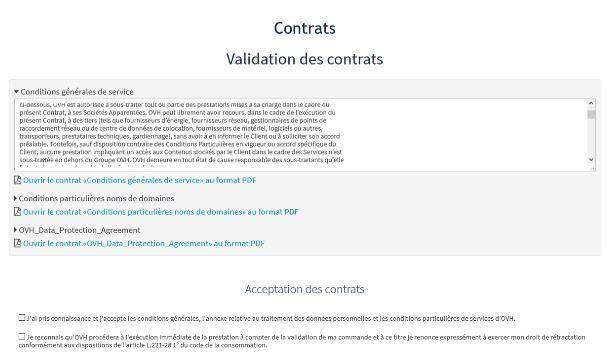 contrat pour créer un blog wordpress