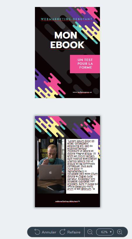 crello pour créer une image pour un  pdf
