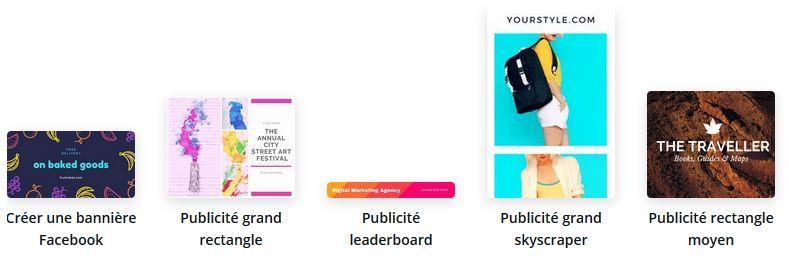 modèles d'annonces publicitaires