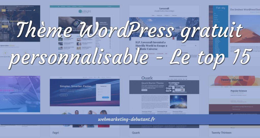 thème wordpress gratuit personnalisable
