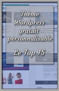 thème wordpress gratuit personnalisable couverture