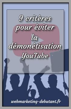 Démonétisation YouTube