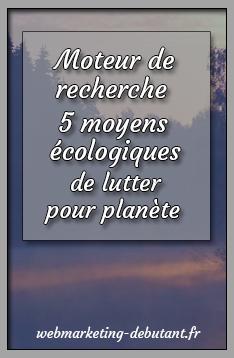 moteur de recherche ecologiques