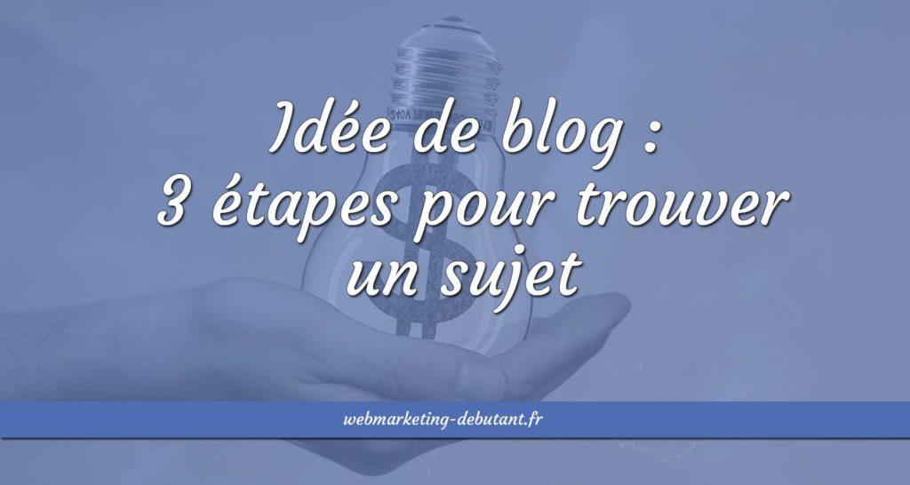idée de blog
