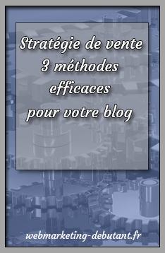 stratégie de vente sur un blog