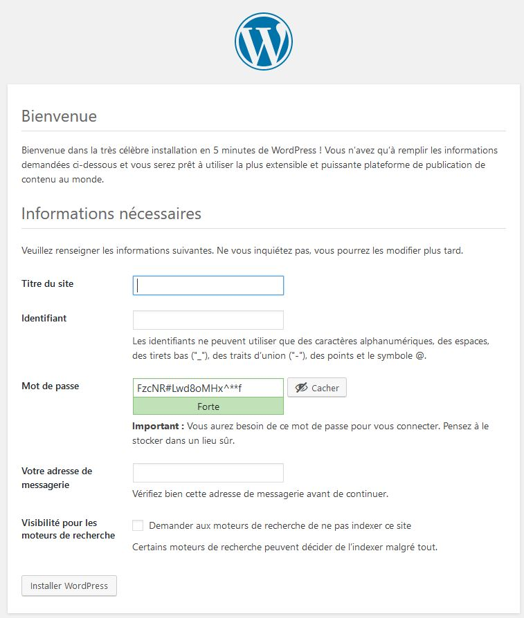 configuration-de-wordpress pour installer wordpress en local