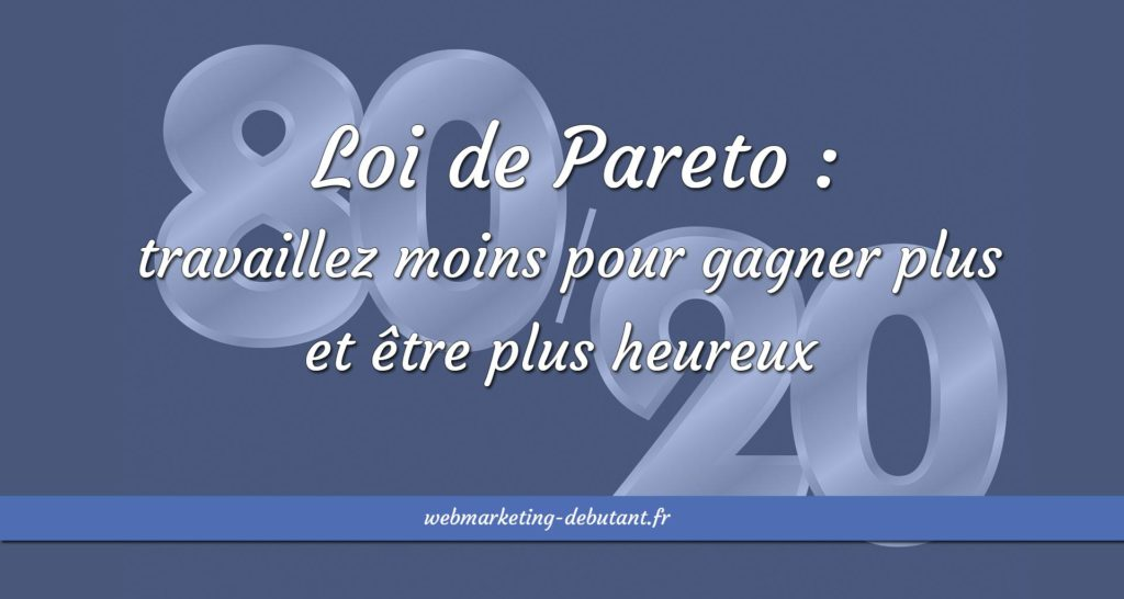 loi de pareto methode 20-80