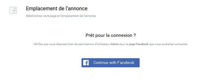 connexion à Facebook pour créer une publicité Facebook avec Getresponse