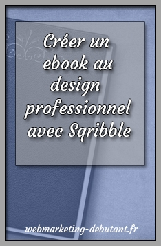 creér un ebook avec sqribble