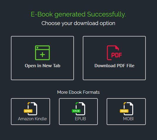 enregistrer son ebook créé avec Sqribble