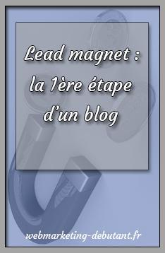 lead magnet - 1ere etape du blog