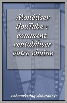 monétiser youtube
