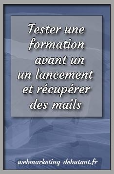tester une formation