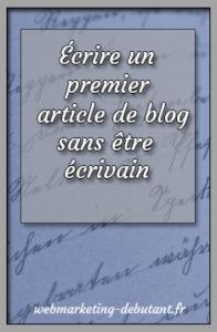 Écrire un premier article de blog