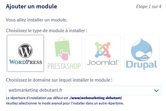 Ajouter un module