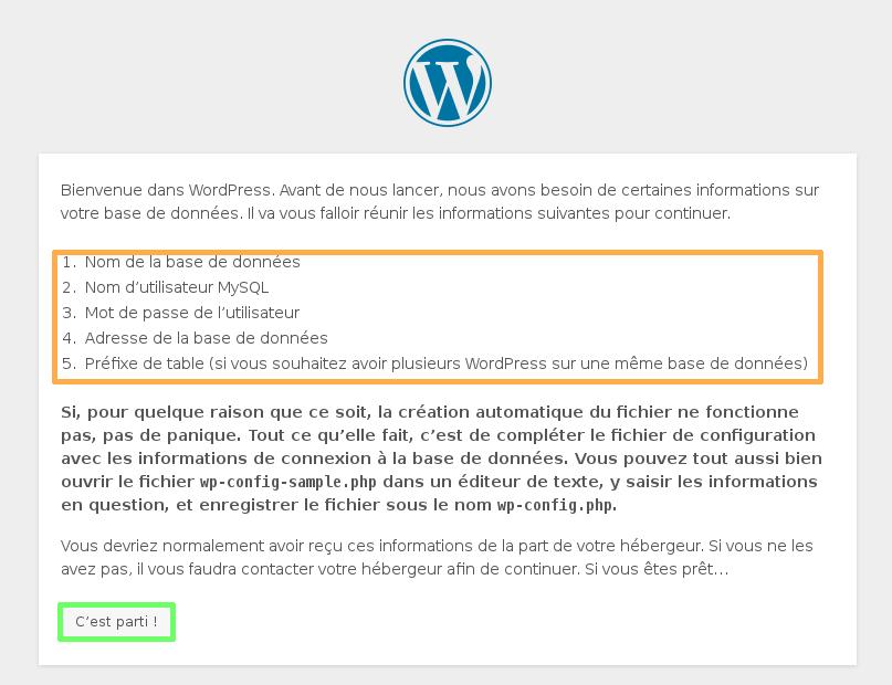 Installation du module WordPress