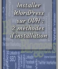 Installer WordPress sur OVH