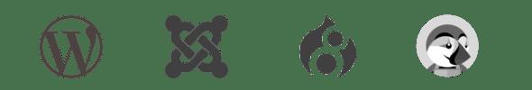 Logo des CMS pésents chez OVH