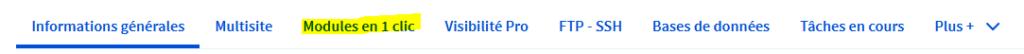 Module en 1 clic pour installer WordPress sur OVH