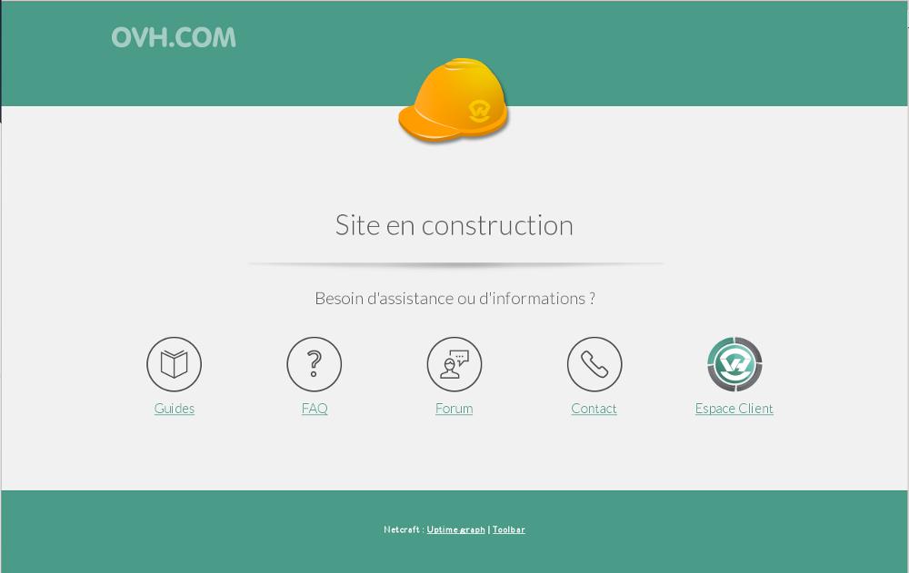 Site en construction pour installer WordPress sur OVH