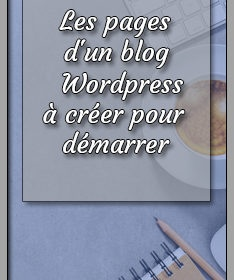 les pages d'un blog wordpress
