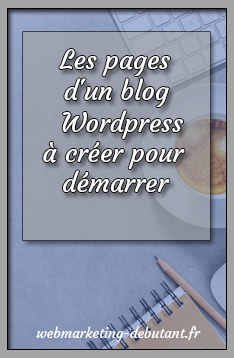 les pages d'un blog wordpress